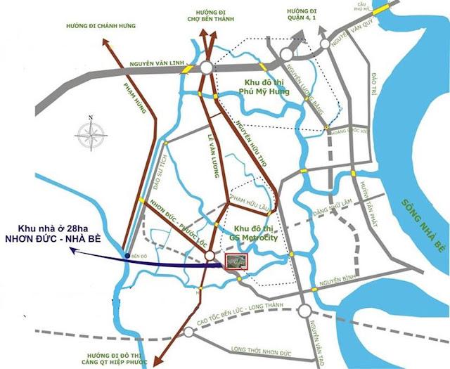 GS Metro City Nhà Bè Vị Trí