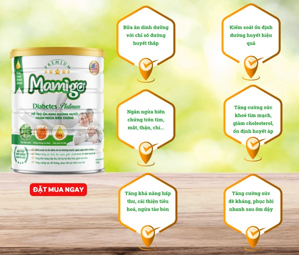 công dụng của sữa tiểu đường thảo dược Mamigo Diabetes Platinum
