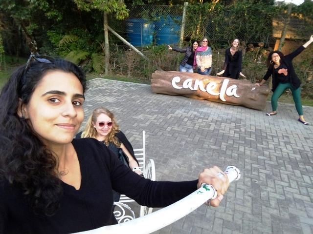 Mulheres Mundo Afora no Parque do Caracol, em Canela, nas Serras Gaúchas