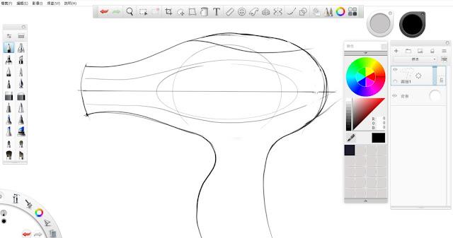 Sketchbook Pro 快速設計表現技法教學1