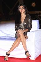 Pooja Hegde looks glamarous in deep neck sleevless short tight golden gown at Duvvada Jagannadham thank you meet function 077.JPG