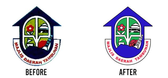 Majlis daerah tambunan logo sebelum selepas
