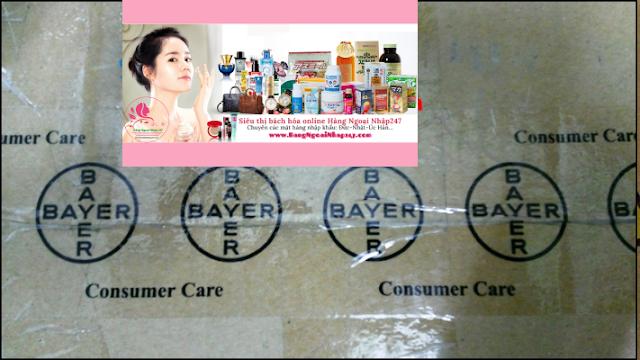 Healthy Mum cho bà bầu nhập nguyên thùng chính hãng từ Úc, được niêm phong bằng tem decal logo chính hãng Bayer Australia