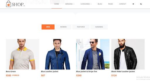 15. R-shop - Ecommerce Responsive Blogger Template