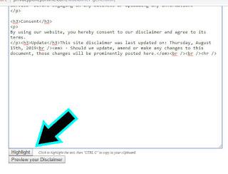 Cara Membuat Disclaimer pada Blog dengan Mudah