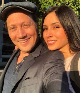 Patricia Azarcoya Schneider clicking selfie with her husband Rob Schneider