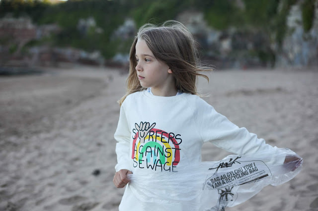 Beach clean Wales
