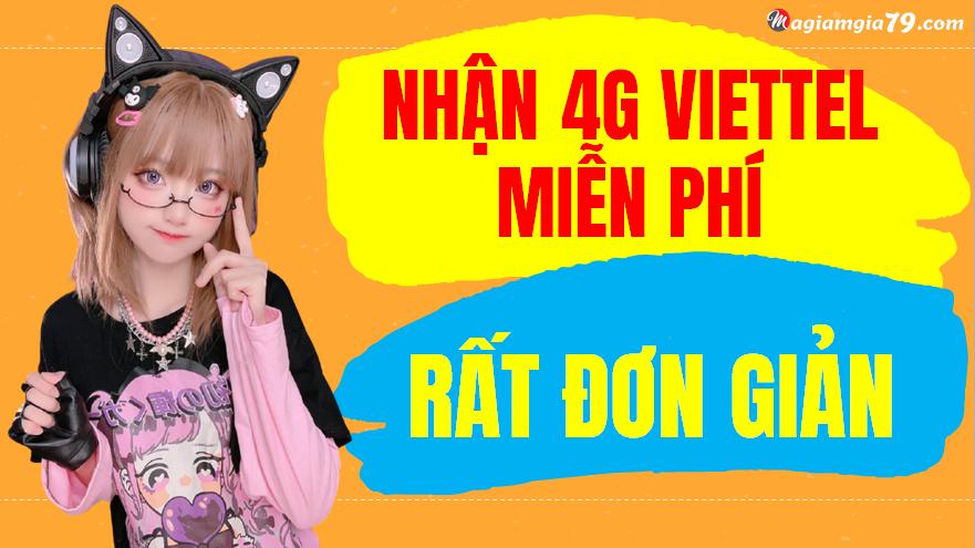 Cách nhận 3G-4G-5G Viettel miễn phí 2021