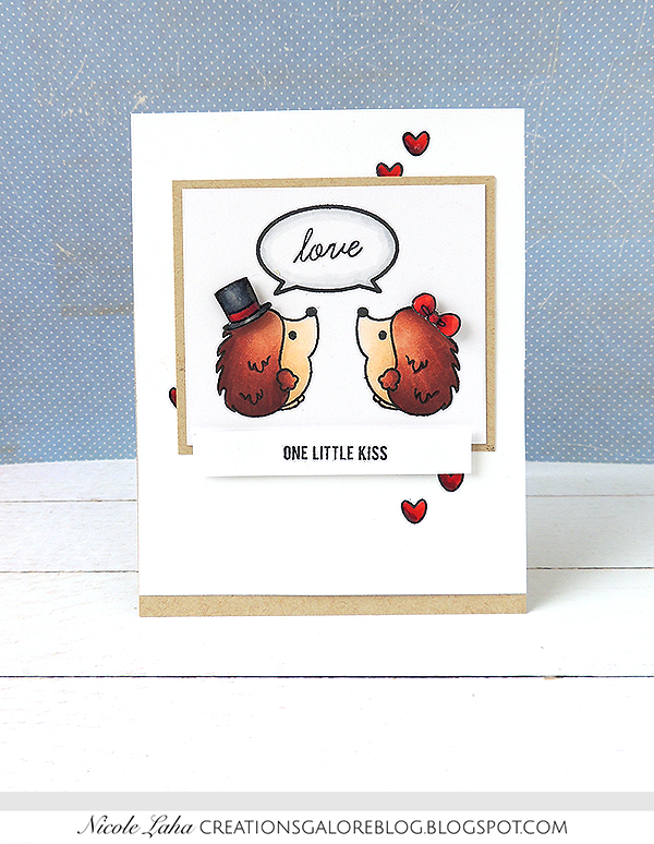 Sweet Stamp Shop - Hedgehogs Little Kiss
