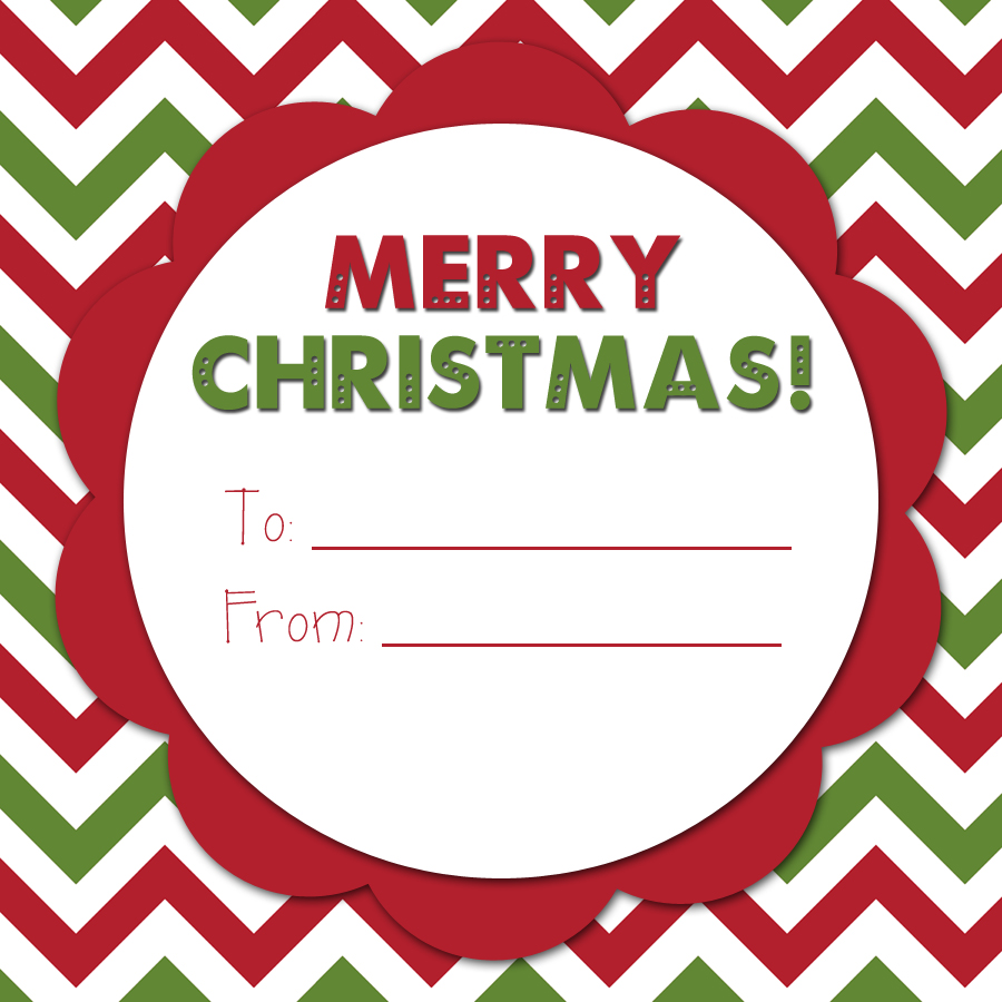 Merry Christmas Labels Printable: An Organized Family: A Merry Christmas Tag