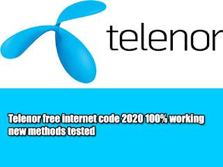 Telenor free internet code 2020