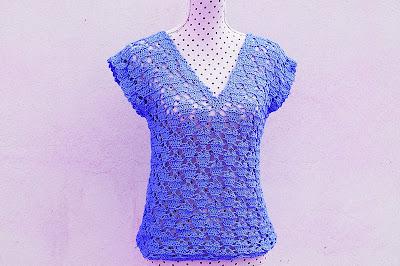 5 - Crochet IMAGENES Blusa de corazones muy fácil y sencilla. MAJOVEL CROCHET