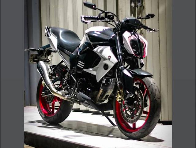 Modifikasi Pasang Headlamp KTM Duke Di Yamaha Byson