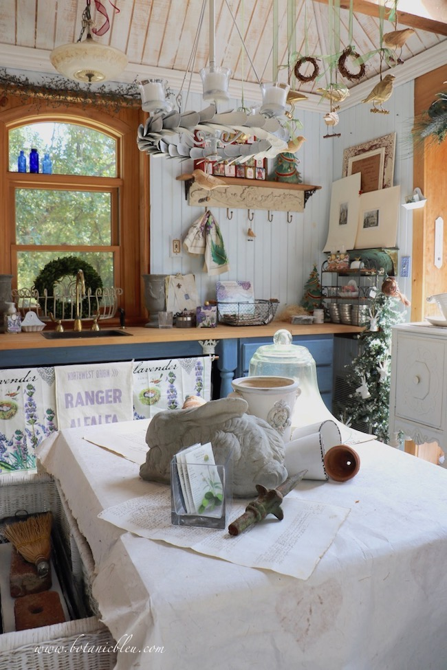 French Country Christmas Event housed in the little garden shed