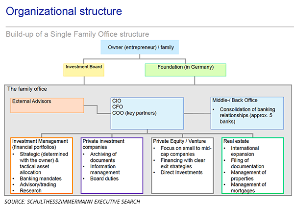 Single Family Office structure chart. StrengthFighter.com