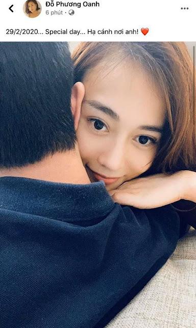 Phương Oanh đăng ảnh hôn môi bạn trai