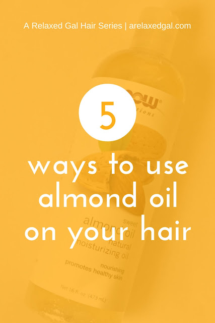 See the benefits of using almond oil in a healthy hair regimen for colored, relaxed or natural hair. | arelaxedgal.com