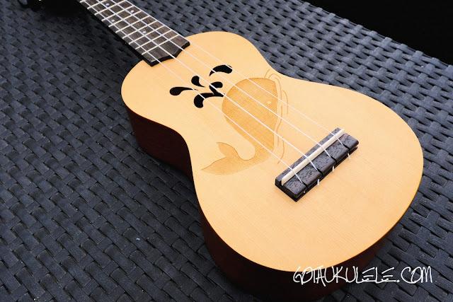 kahuna laser etched soprano ukulele body