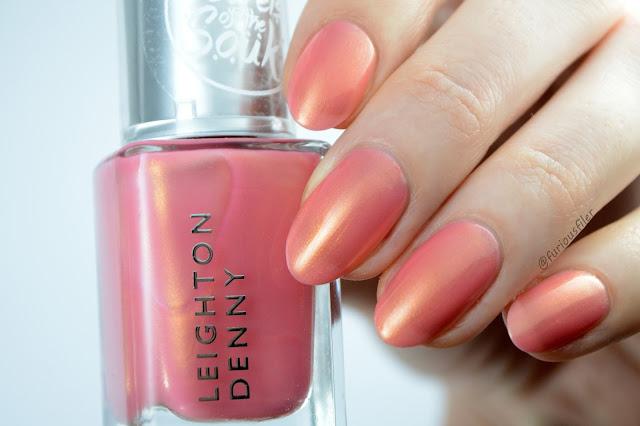 Leighton denny sheer topper golden sands swatch