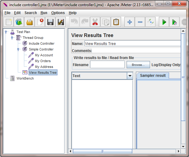 Software testing tutorials and automation: Jmeter Include
