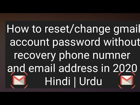 How to recover gmail id without recovery email and phone numbe How to reset gmail id without phone