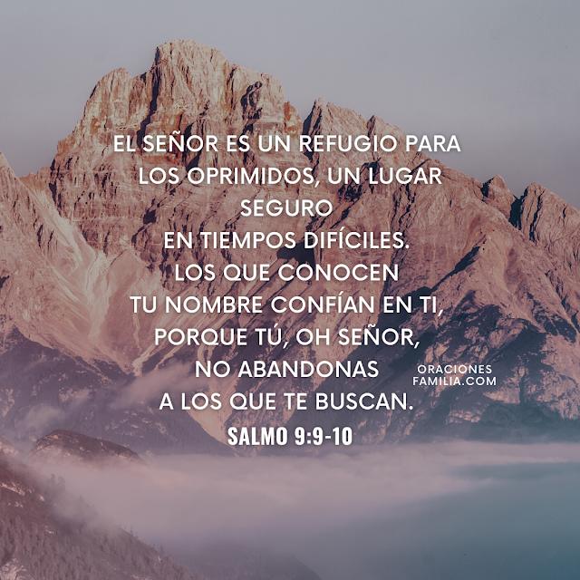 frases de oracion de proteccion con salmo 9 versiculo bíblico para la noche