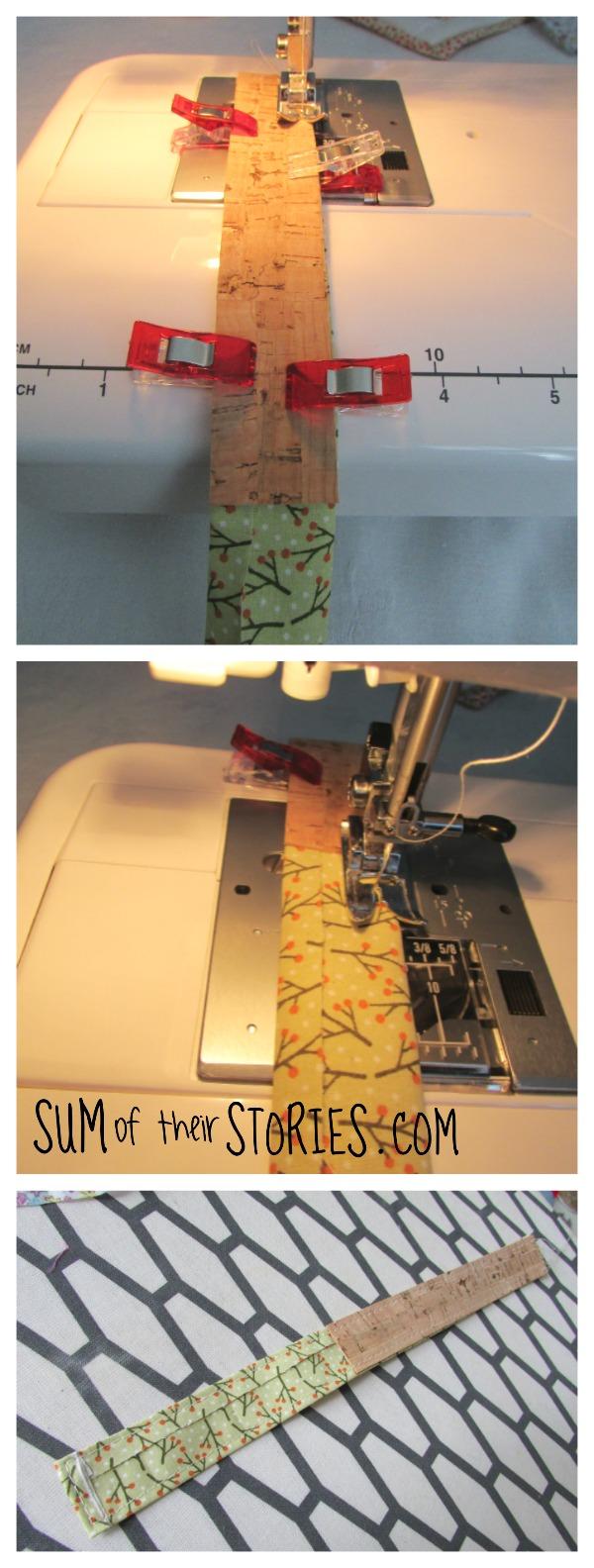 Cork and fabric Keyring