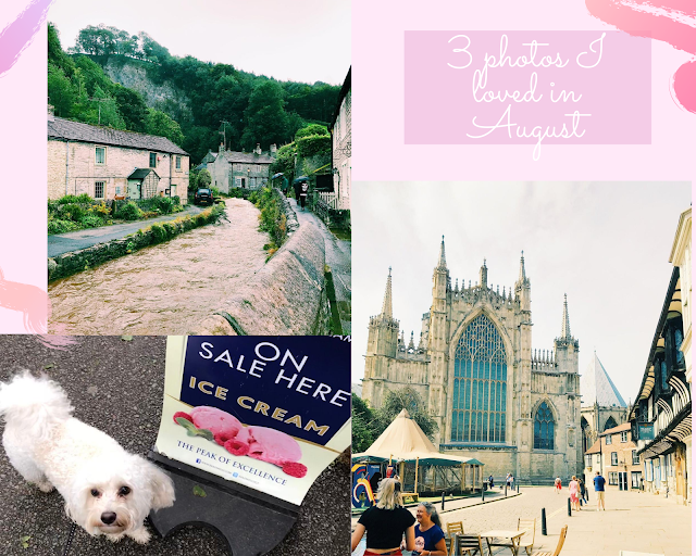 collage - pink background with photos from Castleton and York