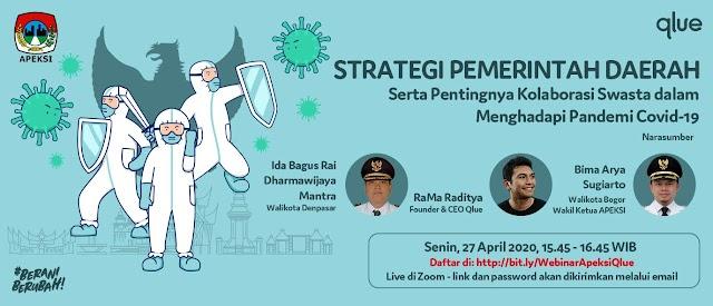 Laporan Virtual Event Strategi Pemerintah Daerah APEKSI - QLUE 27 Apr 2020