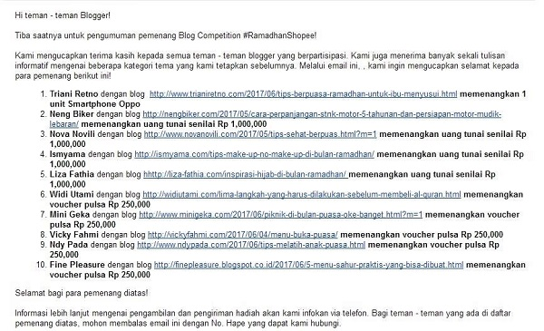 lomba blog shopee