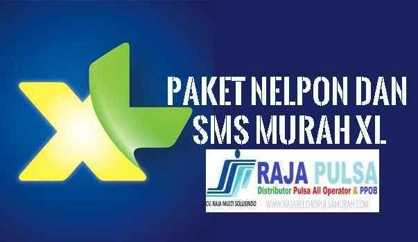 XL Paket Nelpon dan SMS Termurah Raja Pulsa