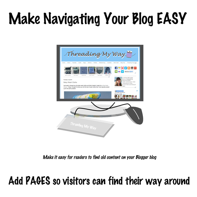 How to add a navigation menu and static pages on a Blogger blog. Make it easy for readers to find old content ~ Threading My Way