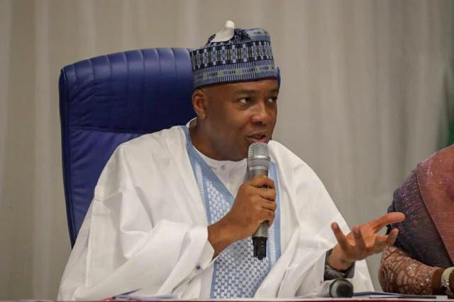 Saraki reacts as Sen. Abaribe's emerge Senate Minority Leader