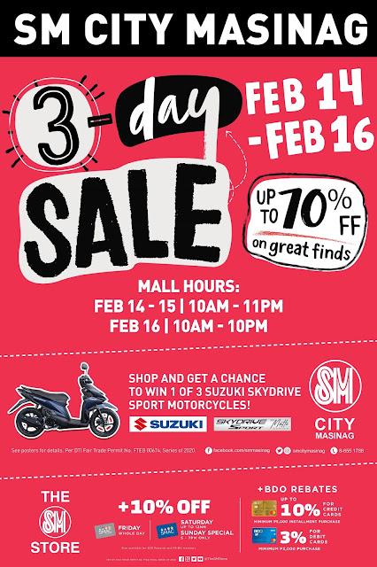 Valentine 3-Day Sale at SM City Masinag