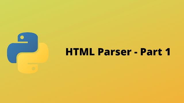 HackerRank HTML Parser - Part 1 solution in python