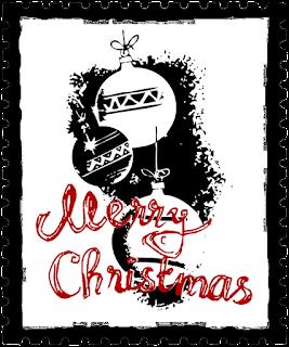 Clipart Weihnachtsbriefmarke