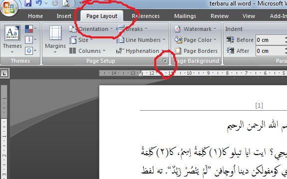 Cara Print Book Fold Buku Bolak Balik Arab Pada MS Word 2007