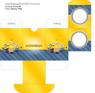 Cajas de Película de los Minions para imprimir gratis.