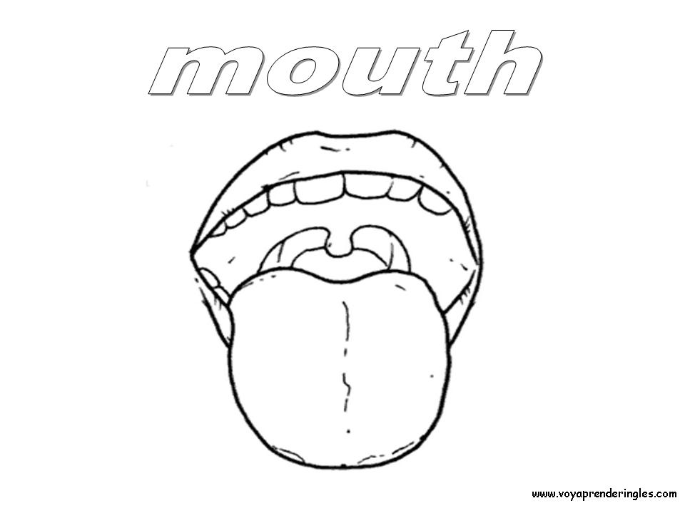 coloring pages for tongue teeth - photo#17