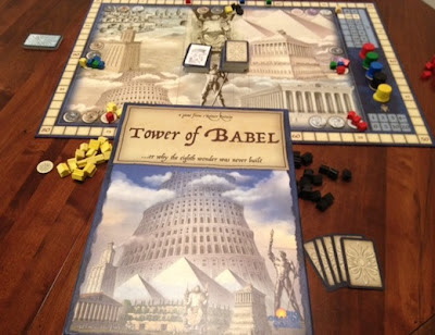 Tower of Babel board game by Reiner Knizia