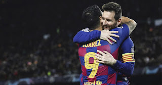 The Suarez-Messi partnership tops the list of most prolific pairings across Europe league
