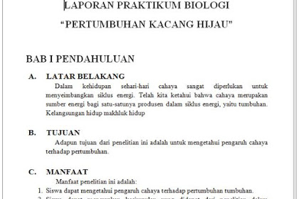 Laporan Praktikum Biologi tentang Pertumbuhan Tanaman