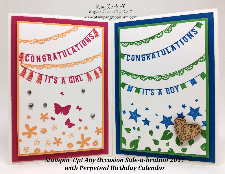 Perpetual Calendar Stamp : Baby cards with any occasion sale a bration how to
