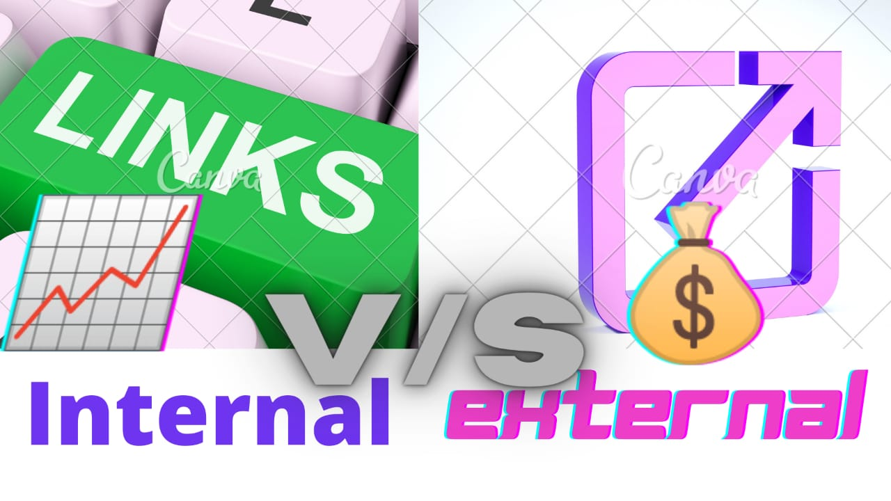 What is an internal and external link.