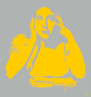 Marceline Valmore, d'après un portrait de Constant Desbordes