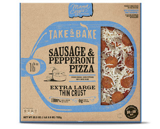 Stock image of Mama Cozzi's Sausage and Pepperoni Extra Large Take and Bake Pizza