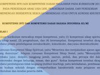 KI dan KD Kurikulum 2013 Kondisi Khusus untuk PAUD, SD, SMP, SMA/SMK