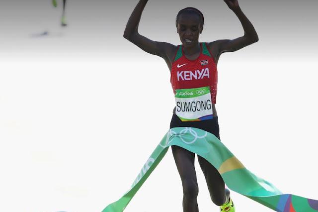 Jememima Sumgong vence la Maratón femenina Rio 2016
