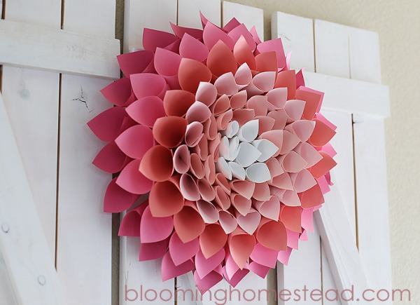Paper Wreath from Blooming Homestead