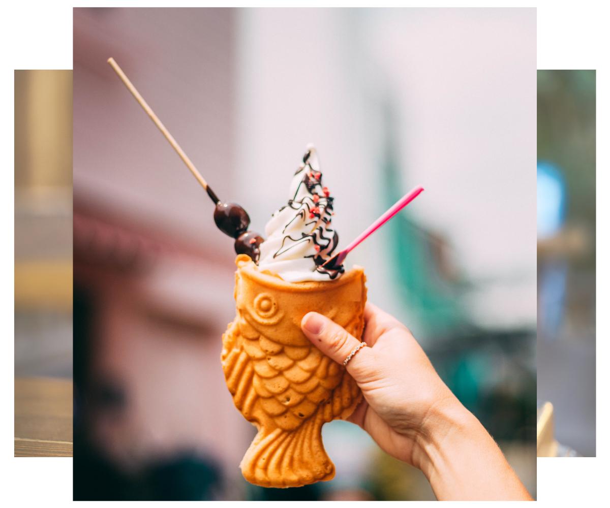 Gofre con helado